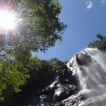The nearby Madonna & Child Falls
