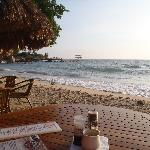 Beach-front dinner
