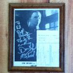 Michael Myers Autograph Behind the Front Desk