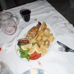 Fresh Kalamari lunch