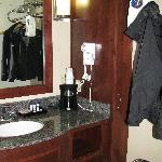 Sink area, separate room for tub