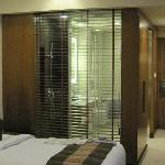 The glass walled ensuite...ample opportunity to get naughty.