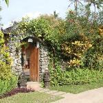bungalow caché dans la verdure