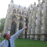 Bryan explaining some architecture of Westminster Abbey