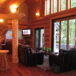 the lower level of the lodge
