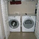 All condos come standard with a washer and dryer in the unit.