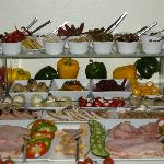 Part of the beautiful breakfast buffet