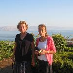 Our moms overlooking the Sea of Galilee