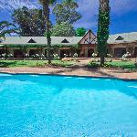 Large salt water swimming pool