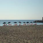 la plage à 10 h du matin