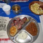 Delicious Barbecue Chuckwagon Dinner, Diamond W Wranglers Show, Wichita, KS
