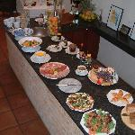 The breakfast buffet - cooked to order