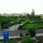 Le jardin devant l'hôtel