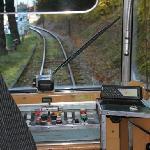 Führerstand der Strassenbahn