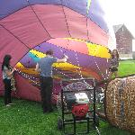 Getting our balloon ready!