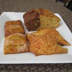 Assorted pastries in the morning for breakfast.
