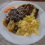 Traditional Costa Rican breakfast.