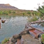 Riverside hot springs
