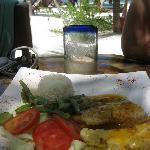 Mawimbi lunch - Grilled grouper fish filet w/ orange sauce