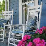 5 Corners front porch is a great place to enjoy a cup of fresh brewed coffee or a glass of wine.