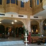 the lobby from the entrance