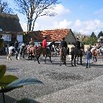 Typical winter village scene