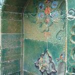 Une fontaine en céramique