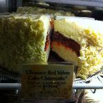 The Red Velvet cheesecake