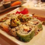Sushi combo half-eaten