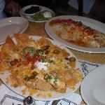 The nacho's and jumbo Burrito