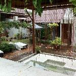 The spa and sauna