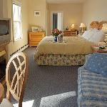 Waterfront Suite with king size bed and pullout sleeper.