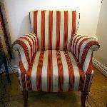 dirty armchair