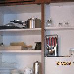 キッチンの棚内部