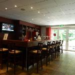 the bar in the gym/spa area