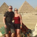 Us behind the 9 amazing pyramids