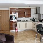 living room + kitchenette