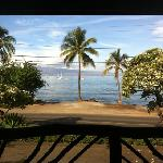 view from our table at Five Palms in Lahaina