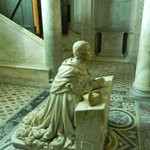 Naples - Duomo - Statue in crypt below the altar