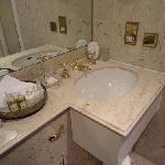 Bath vanity - gold fixtures!