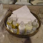 Luxury toiletries - refilled every day as they were used.