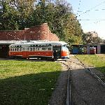 SEPTA #2168 - Street Car Barn in Back Right
