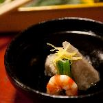 one of the many courses of our kaiseki dinner