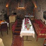 La Renzo - dining in the secular wine cellar