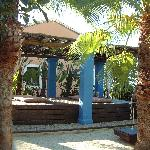 Garden meditation area