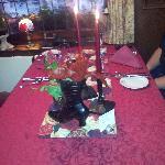 Der Tisch für das Candellight Dinner