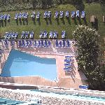 A view of the pool from our balcony!