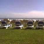 A view of the ocean from the lounge chairs!