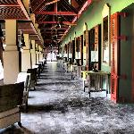 Long corridor of Serai restaurant