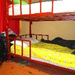 My bed in the 9 beds dorm.